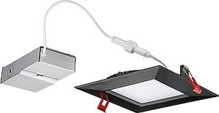 Lithonia Lighting WF6 SQ S LED 30K MB M6 Ultra-Thin Square LED Recessed Ceiling Light, 3000K   Bright White, Matte Black
