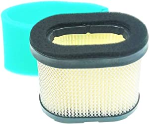 MOWFILL 498596 Air Filter Replace for Briggs Stratton 5059 690610 697029 OEM Air Cleaner Cartridge with 273356 Pre Filter Fits Lawn Mower Air Cleaner Element