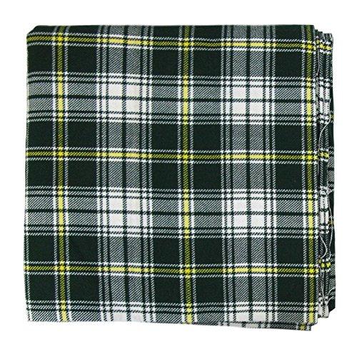 "Tartanista - Tissu pour plaid - motif tartan - 269 x 134,5 cm (106"" x 53"") - Saint-Patrick - 268 x 135 cm"