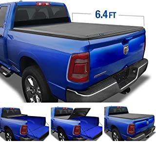 Tyger Auto (Soft Top T3 Tri-Fold Truck Tonneau Cover TG-BC3D1045 Works with 2019 1500 New Body Style | Without Ram Box | Fleetside 6.4' Bed