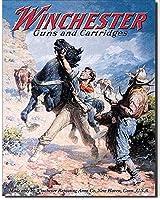 ウィンチェスター銃とカートリッジカウボーイズレトロビンテージティンサイン