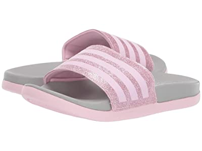 adidas Kids Adilette Comfort (Toddler/Little Kid/Big Kid) (Clear Pink/Grey) Girl