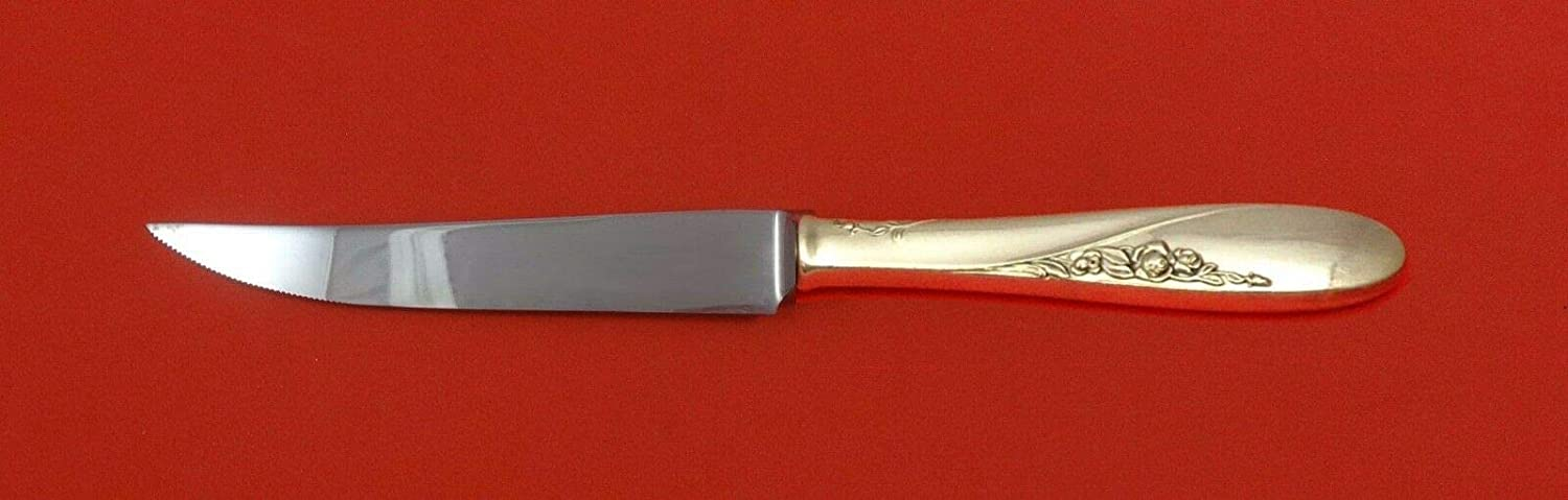 Rose Spray by Easterling Sterling Serrated Knife Steak HH In stock Fashion Silver