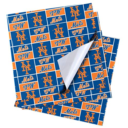 New York Mets Team Wrapping Paper 4 Pack