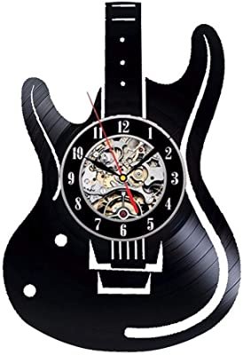mebeaty Hollow Guitarra eléctrica Vinilo Registro de Vinilo Reloj ...