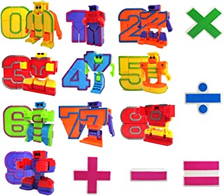 miYou Educational Math Counting Toy Number Robot Action Figure Set Gift for Kids 15 Pieces
