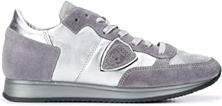 Philippe Model Luxury Fashion Womens TRLDME02 Silver Sneakers | Season Outlet