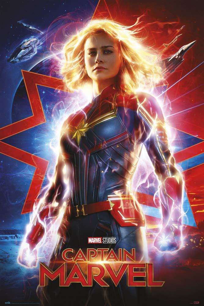 Grupo Erik Poster CAPITANA Marvel One Sheet, 61 X 91.5 cm: Amazon ...