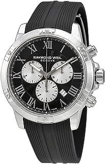 Men's Tango Stainless Steel Quartz Watch with Rubber Strap, Black, 20 (Model: 8560-SR-00206)