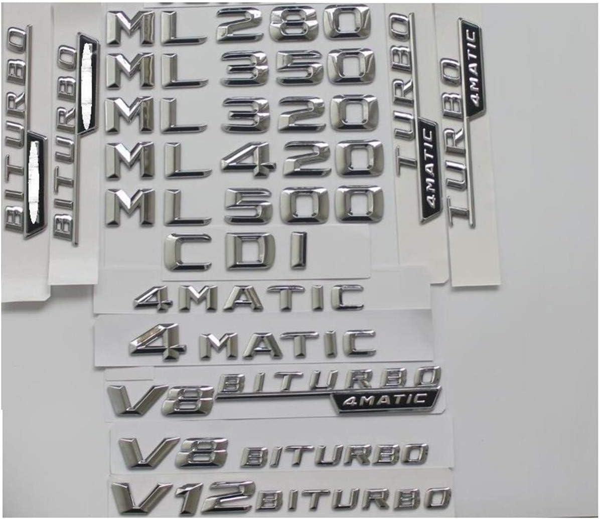 Chrome Super-cheap Trunk Letters Badge Emblem Emblems Mercedes Benz Cheap SALE Start ML55 for