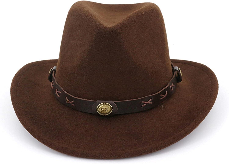 GPQHSM QBHAT Women Man Felt El Paso ! Super beauty product restock quality top! Mall Western Wide Jazz Brim F Cowboy Hats