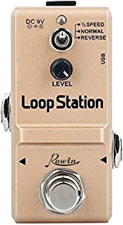 Rowin Loop Station Looper Effects Pedal Unlimited Overdubs 10 Minutes of Looping, 1/2 time, and Reverse