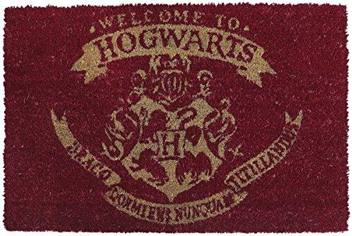 Felpudo Harry Potter 40x 60cm alfombra limpiador Zapatillas Puerta Entrada Welcome to Hogwarts Felpudo fibra de coco Hermione Voldemort Escuela de magia regalo Navidad 2017libro de J.K. Rowling