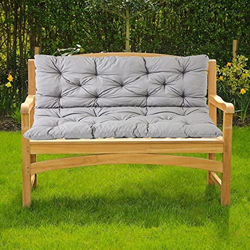 ZJHTK Cojín grueso para banco de jardín de 2 o 3 plazas, resistente al agua, rectangular, antideslizante, suave, cojín de banco para interiores y exteriores, 100 x 100 x 10 cm, color blanco
