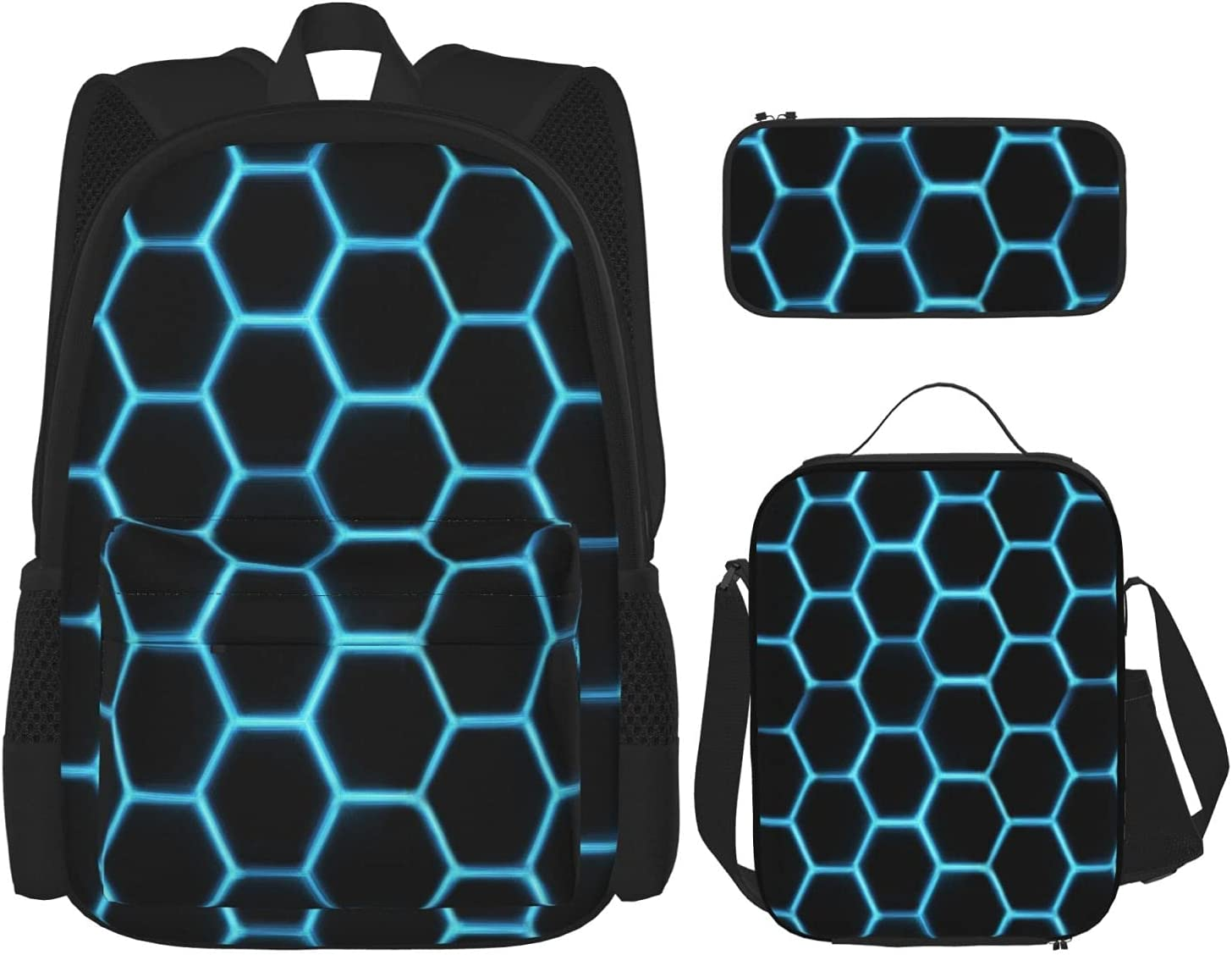 Cool Hexagon School Bag + Super beauty product restock quality top Ou Popular brand Combination Case Pencil Lunch