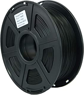 Superfila PLA 3D Printer Filament for Ender 3/Ender 3 Pro, Dimensional Accuracy +/- 0.03 mm, 1 kg Spool, 1.75 mm, Black