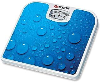 ميزان وزن الجسم اليكتا الميكانيكي للحمام مع دوران للحمام بسعة 130 كجم، ازرق - EWS-878MKI
