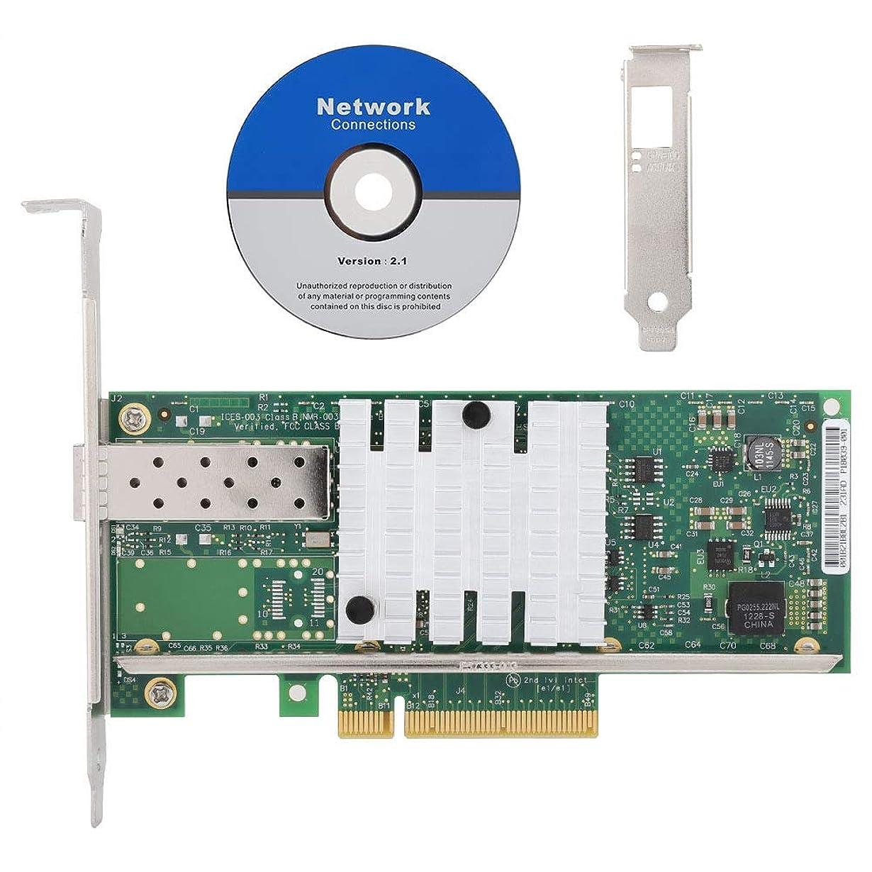 運賃俳優近代化X520-DA1ネットワークカードイーサネットサーバーアダプター、INTEL X520-DA1 82599EN PCI-E用シングルポート10G SFPファイバーネットワークカード