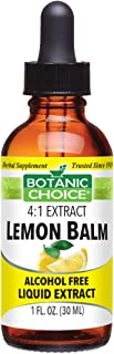 Botanic Choice Alcohol Free Liquid Extract, Lemon Balm, 1-Fl. Oz. (Pack of 2)