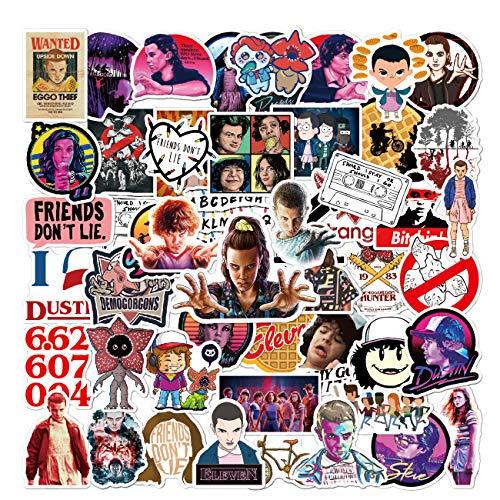 100pcs Strange_r Things Stickers for Hydroflasks Vinyl Waterproof Stickers for Kids Teens Adults Water Bottle Skateboard Luggage Laptop Decal Sticker