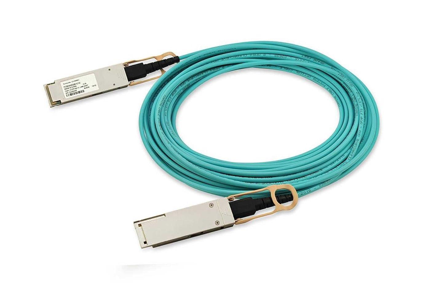 ゲージ遠征極めてLODFIBER QSFP28-100G-AOC-20M Brocade 対応互換 20M 100GBASE QSFP28 AOCアクティブ光ファイバケーブル