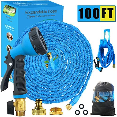 Running Bulls Expandable Garden Hose Pipe 100ft Magic Flexible Hosepipe With Soild Brass Conneter 8 Modes Spray Nozzles Hook And Bag Light Weight Expanding Hose For Home Garden Cleaning Blue100ft Buy Online In South Africa