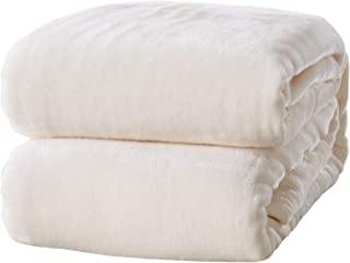 Home Fashion Designs Ultra Velvet Plush All-Season Super Soft Luxury Bed Blanket. Lightweight and Warm for Ultimate Comfort. Marlo Collection (Full/Queen, Whisper White)