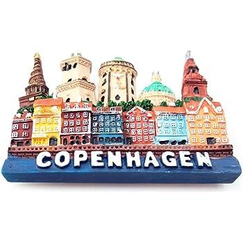 Souvenir Regalo MUYU Magnet Magnete da Frigorifero con Sirena Copenhagen Danimarca 3D Collezione Copenhage Denmark Decorazione per casa e Cucina