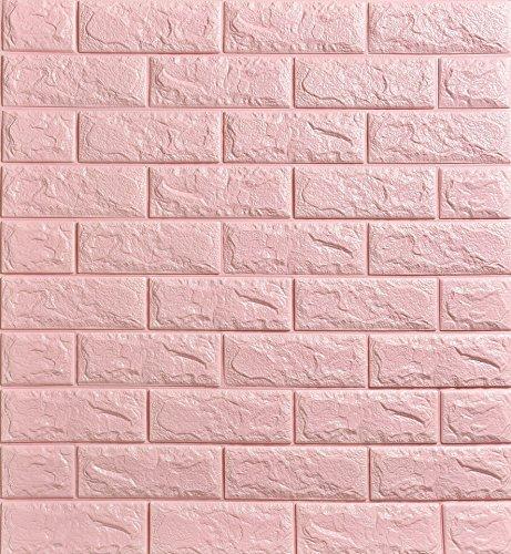 20 Pcs Papel de pared estilo ladrillos 3D, YTAT IED Pegatina de Pared DIY 3D Ladrillo Papel Pintado Sticker Autoadhesivo Wall Paneles, Ideal para dormitorios y salones 60 x60 cm