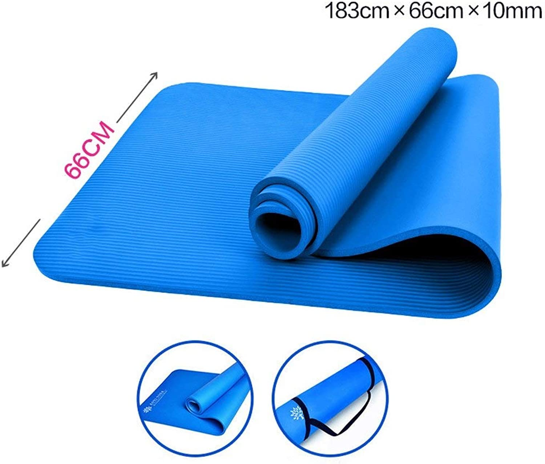 NANIH Home Yogamatten 183cmX60cmX10mm Yogamatten verlngerten Fitnessmatten Fitnessmatten Yogamatten (Farbe   G)