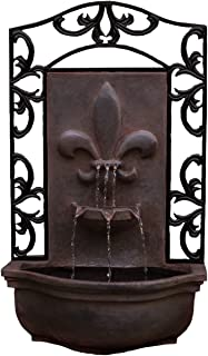 The Bordeaux - Outdoor Wall Fountain - Weathered Bronze - Water Feature for Garden, Patio and Landscape Enhancement