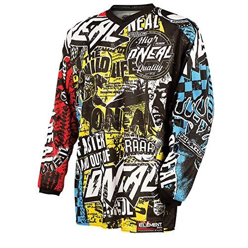 O\'NEAL Herren Jersey Element Racewear Wild, Mehrfarbig, X-Large, 0024W-9