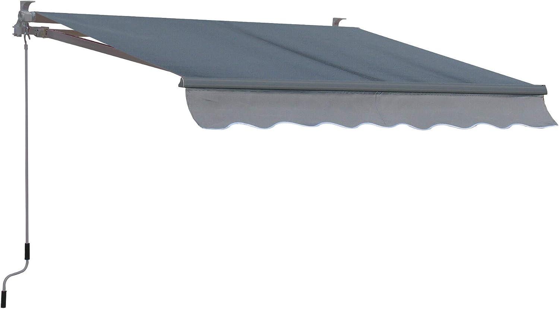 QUICK STAR Gelenkarm Markise 200x150cm Grau Wandmarkise Sonnenschutz Terrassenüberdachung