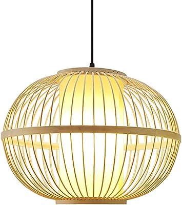 WYJW La lámpara de bambú, Bricolaje, Mimbre, lámpara de ...