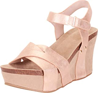 Cambridge Select Women's Crisscross Strappy Chunky Platform Wedge Sandal