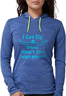 CafePress - I Can Fly What's Your Superpower Long Sleeve T-Shi - Womens Hooded Shirt