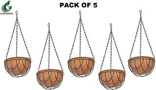 COIR GARDEN Coir Hanging Pots (8-inch) - 5 Pieces