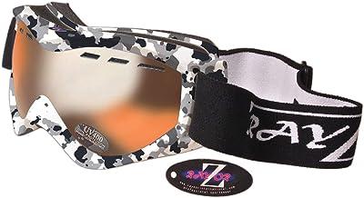 RAYZOR Professionele Skibril Snowboardbril – OTG Ski Masker met UV400 Bescherming (25 modelkeuzes in AD) – Anti-condens en...