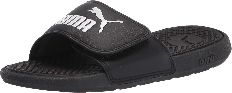 PUMA Unisex-Child Cool Cat Hook and Loop Slide Sandal