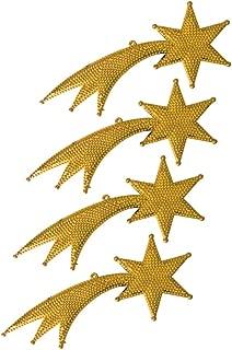 Kuyruklu Yıldız Dekor Süs Altın 18cm 4lü