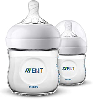 Philips Avent Natural Baby Bottles, 125ml, 2-Pack, SCF030/27