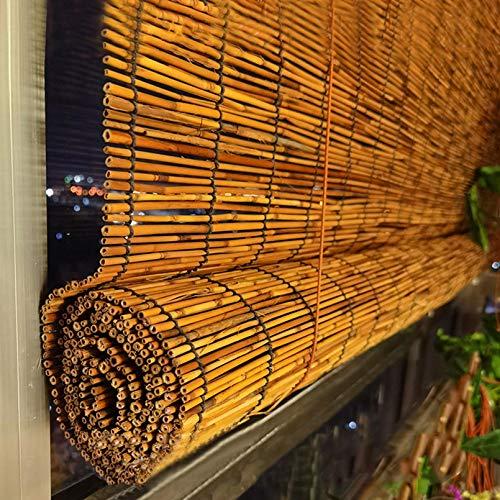 NIANXINN Bamboo Roller Blinds,Natural Made of Reed,Stores Filtrant La Lumière,Rideaux en Roseau élévateurs Décoratifs Rétro pour Extérieur/Intérieur/Jardin,Personnalisables(90x180cm/35x71in)