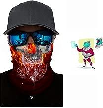 Skull Mask, Breathable Seamless Half Face Tube Mask Bandanas for Dust, Music Festivals, Raves, Riding, Outdoors