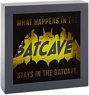 HMK DC Comics Batman Batcave Framed Light-Up Quote Sign