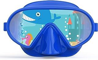 Fxexblin Scuba mask, Anti-Fog Swimming Goggles Leak-Proof Tempered Glasses Single Len 180 Panoramic View Great Seal Silico...