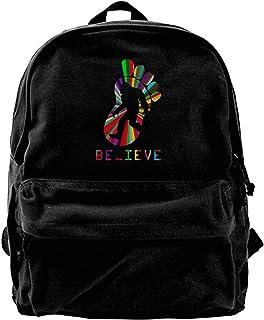 NJIASGFUI Mochila de lona colorida Bigfoot Sasquatch BELIEVE Camper Mochila Gimnasio Senderismo portátil bolsa de hombro p...
