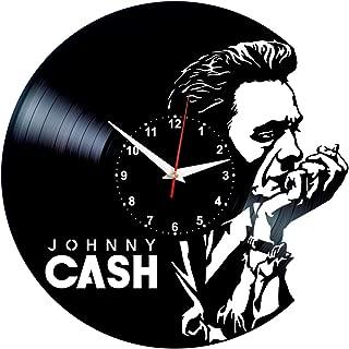 Queen Clocks Johnny Cash Wall Clock Vinyl Record Home Decor - Johnny Cash Gifts for Women