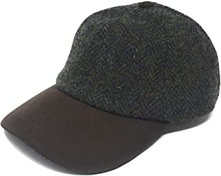 Heather Hats Traditional Harris Tweed Golf/Baseball Cap in Forest Green Unisex
