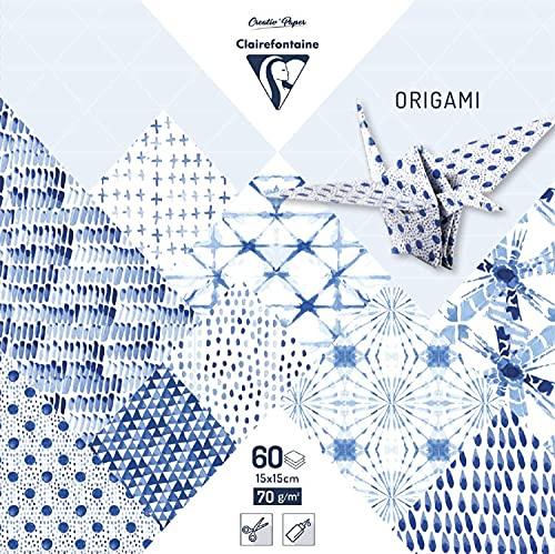 Clairefontaine 95351C -Fogli da origami, 15x 15 cm (Confezione da 60) Shibori