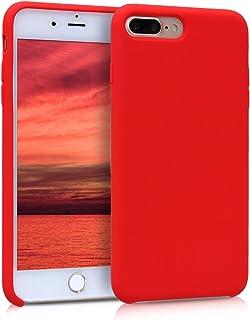 kwmobile Hülle kompatibel mit Apple iPhone 7 Plus / 8 Plus   Handyhülle gummiert   Handy Case in Rot